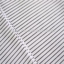 100%cotton yarn dyed fabric light color narrow stripe fabric