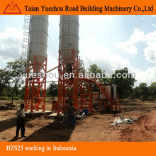 Concrete mixing plant HZS25 block making machine