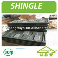 Shingle Stone Coated Metal Roofing Tiles