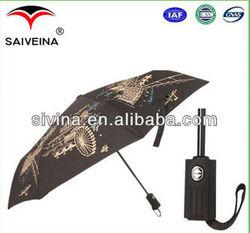21 Inches 8 Ribs High Quality Easy Open Easy Close 3 Folding Sun Umbrella