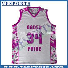 custom print basketball tshirt