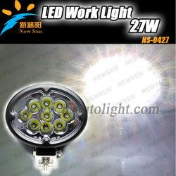C ree 27w led tractor work light,led handheld light super bright farming,truck,excavator 27w working led light