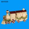 Train shaped decorative ceramic Salt and Pepper Shaker