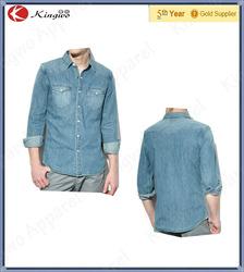 fashion classic jeans wear/mens denim shirts