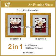 Flower design art picture framed for wholesale