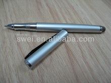 Dual Purpose Stylus condutiva W / recarga de tinta preta dentro para todos capacitivo telas sensíveis ao toque