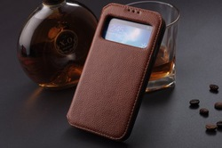 Leather S-View Flip Book Back Cover Case For Samsung Galaxy S4 i9500