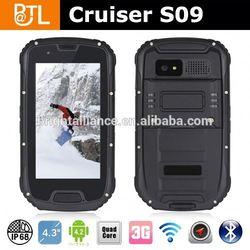 Cruiser S09 MTK6589 IP68 walkie-talkie GPS rugged mobile phone rugged smart phone