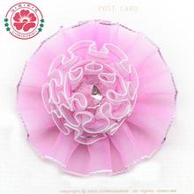 Handmade acrylic bead ribbon carnation giant flower decoration