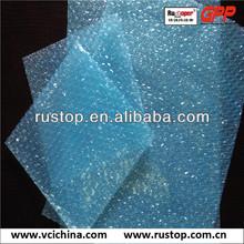 Corrosion preventive plastic bubble wrapping