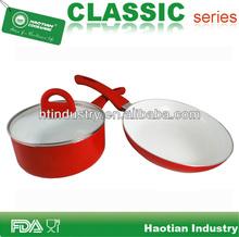 3pcs Ceramic Coating Saucepot & Fry Pan Set