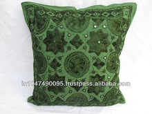 Latest Design 2015 Hand Embroidery Mirror Work Cotton Pillow Cushion Cover