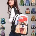 Più venduto bel cane di stampa a forma di animale 2014 bambino animale zaino per la scuola zaino, bbp106
