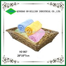 2014 Newest design wicker basket towel tray,hand towel basket