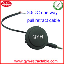 3.5DC one way pull retract cable wire to open with 2 mm stripping and tinned end