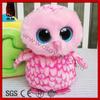 Big eyes series animals soft cute pink birds plush animal toys