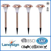 garden lights solar, landsign, Item number: XLTD-317C, Copper finished, 1*white led, no switch,