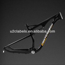2014 Lightcarbon 27.5er dual suspension MTB Frameset BSA/BB30 disc brake custom mountain bike full carbon mtb frameset
