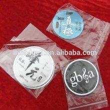 self adhesive custom aluminum labels,cheap promotional metal label for handbag