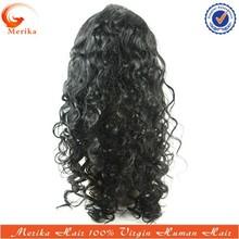 Qingdao supplier natural curly human virgin hair silk top topper wig top beauty wig