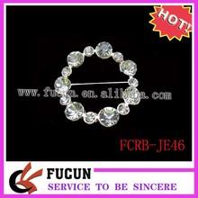 Bling classical rhinestone round sash clip for wedding invitations