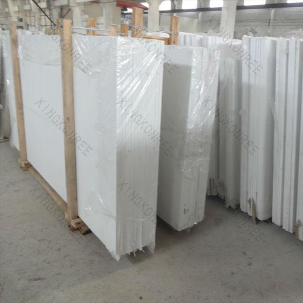 Composiet in de badkamer blad keuken witte koop glas muur - Witte quartz werkblad ...