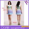 2014 New Ladies Fashion Digital Printing Dress Round Neck Sleeveless Mini Summer Dresses