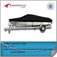 14' - 16' grey V-Hull Fishing Boat Cover Brand