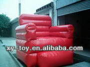 Red home furniture inflatable sofa and chair, inflatable santa in chair
