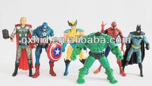 Marvel The Avengers Movie Hulk+Captain America+Batman+Thor+Spiderman+Wolverine 6pcs Action Figure