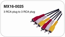 Gold Plated RCA Cable 3 RCA to 3RCA M/M with Factory Price