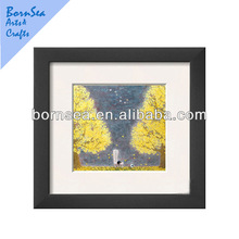bright house types Framed Art Print living room wall painting