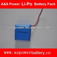 603450 3S1P 1100mAh rechargeable 12V lithium polymer battery for LED lighting