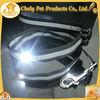 Customized Black Ribbon LED Metal Buckles For Dog Collar