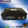 Plastic case support CEC VGA to HDMI converter