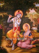2014 Famous radha krishna oil painting