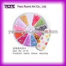 12 colors per wheel flower shaped nail salon dazzling