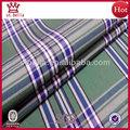 buena calidad 50s peinado hilado tejido teñido de tela de algodón