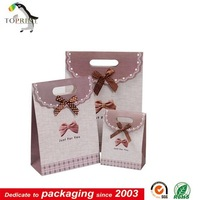 Pink ribbon tie gift bags manufacturers, suppliers, exporters