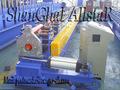 Redonda de aço downspout máquina perfiladeira/frio tubulação máquina de corte