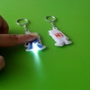 wholesale pvc led frog keychain for promotion gift