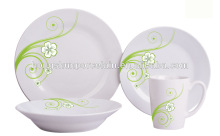 16pcs unbreakable porcelain set with hign quality /factory direct