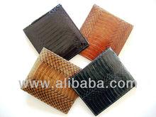 CHRIS - 100% Handmade Genuine Exotic Cobra Snake Skin Leather Men's Wallet
