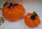 halloween holiday crafts, glass pumpkin, pumpkin figurine
