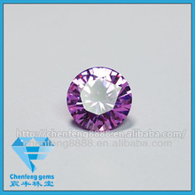 round brilliant cut cubic zircon(CZ)