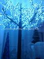 la luz hasta los cerezos para árbol de navidad