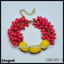 2014 new product cute oval three big stone resin acrylic bracelet beaded bracelet buy chinese product online