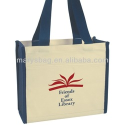 Cotton Canvas tote bag with drop handles