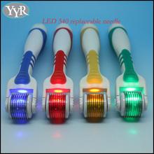 LED 540 needles photon derma roller 415nm blue light 633nm red light