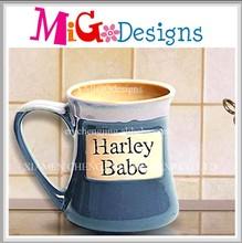 High Quality Handpainted Purple Ceramic Stoneware Mug